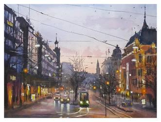 Evening by sampom