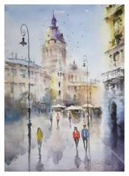 City Corner in Budapest by sampom