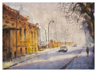 Street in Hamina by sampom