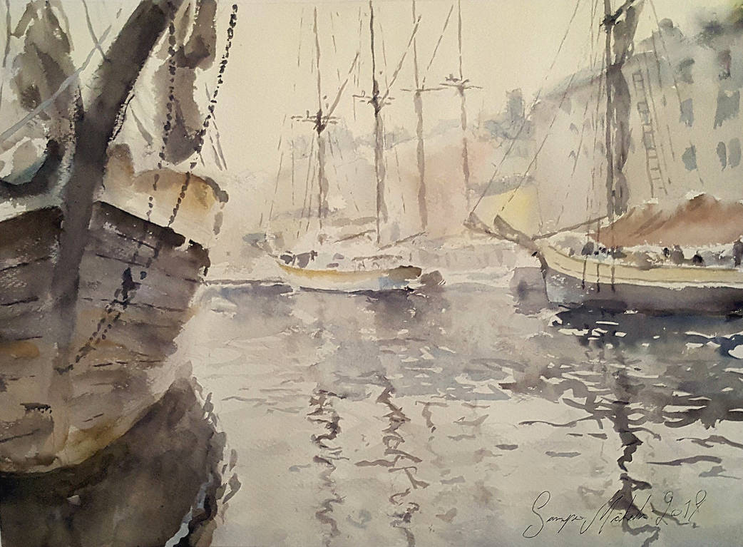 Boats of the Herringmarket by sampom