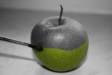 Painting Apples by xx-CosmicSpirit-xx