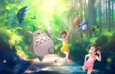 Totoro Summer by OrneryJen