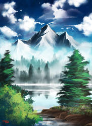 Bob Ross Practice by OrneryJen