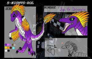 5NR  Lya The Deinonychus by Aroa-Samanta