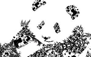 Panda x Brushes by kokorostudio