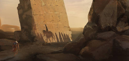 AC Origins Environment - Etyan Zana Tutorial Study by Howie-Ortiz-Sherwood