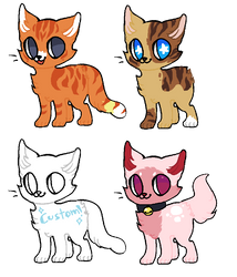[ Feline adopt ] { OPEN } by TheFluffyAdopts