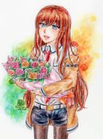 Makise Kurisu by Yuzumiso