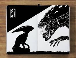 Aliens/Xenomorphs by Stone-Arazel-Heart