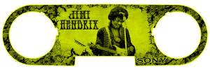 Jimi Hendrix behind the iPod by hoodphotography