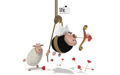 Cupid Sheeps 1920x1200 by bsign
