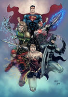 Justice League by Gwendlg