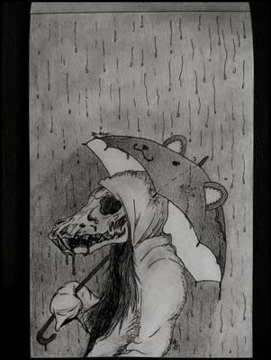 Waiting in the Rain by blueshywolf124