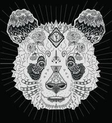 Giant Panda Zentangle by blueshywolf124