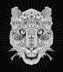 Snow Leopard Zentangle by blueshywolf124