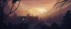 Fantasy Landscape by Cluly