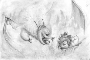 Dragon in fog by zinph1212