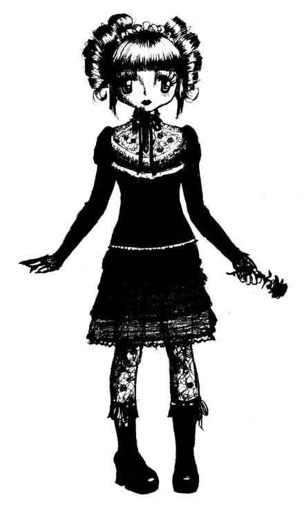 anololi black and white by Funni