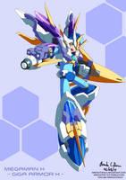 Chogokin - Megaman X: Giga Armor X by innovator123