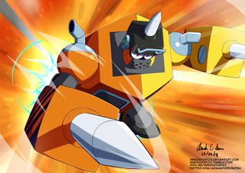 Megaman 11 - Impact Man by innovator123