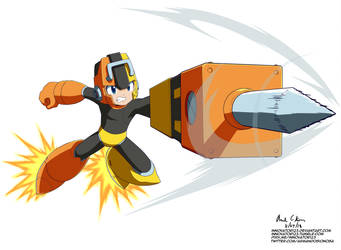 Megaman 11 - Pile Driver by innovator123