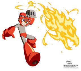 Megaman 11 - Blazing Torch by innovator123
