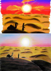Desert sunset by ptitClem