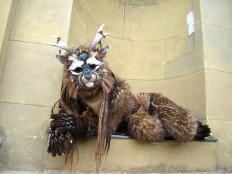 A Wolpertinger in the Town by Ermelyn