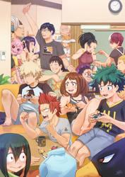 Class 1-A | Boku no Hero Academia Fanart by SteamyTomato