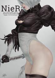 NieR: Automata Anniversary by SteamyTomato