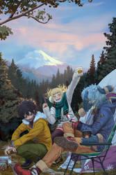 Laid Back Camping | Boku no Hero Academia by SteamyTomato