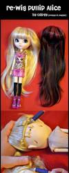 re-wig Pullip Alice by prettyinplastic