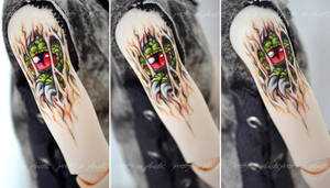 slashing monster - Raphaels new tattoo by prettyinplastic