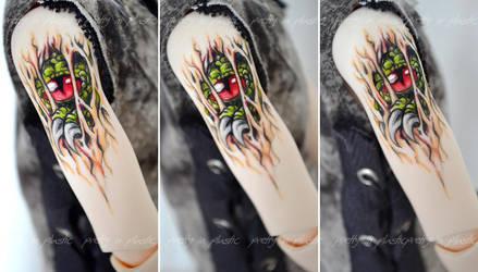 slashing monster - Raphaels new tattoo by prettyinplastic