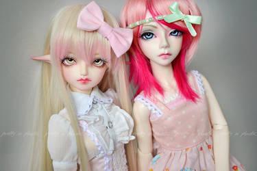 two sweet girls by prettyinplastic