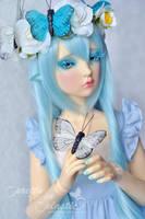 Mariposa - the blue butterfly 02 by prettyinplastic