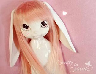 Pinkie Cooper - bunny girl custom (WIP) by prettyinplastic