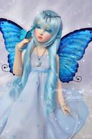 blue butterfly princess by prettyinplastic