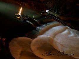 Bath City - Weir At Night by Alex-Denvor