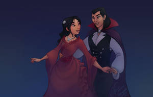 Halloween: Mulan and Shang by relsgrotto