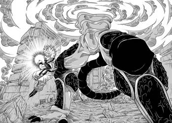 Brave Sword: Gohan's attack by bringerofdeathDBZ