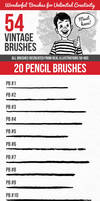 54 Vintage Brushes by ottoson