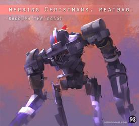 Merring Christmans, Meatbag. by SimonBoxer