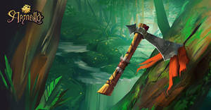 Card illustration: Throwing axe by SimonBoxer