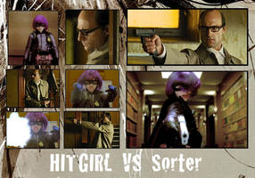 Hit Girl vs Sorter by DICKSON87