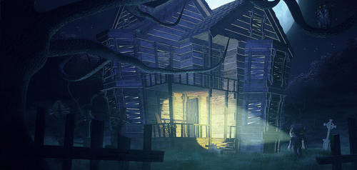 Haunted house by StefmenDA