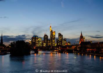 Frankfurt am Main Skyline by Saru-Koshiro