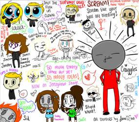 Slipknot DOODIES- uh, doodles by xx-VampirexMelly
