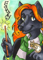 Conbadge -- Ebony by dani-kitty