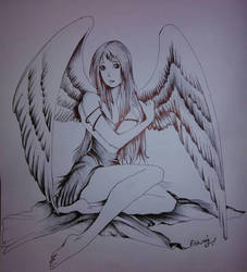 Angel drawing by ashilraj